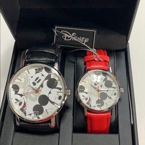 NWB New Disney Mickey Minnie Mouse watch set